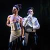 (L-R) Actors Max Cadillac (Lillas Pastia) and Anthony Nikolchev (Zuniga) in San Diego Opera's The Tragedy of Carmen. March, 2017. Photo by Karli Cadel.