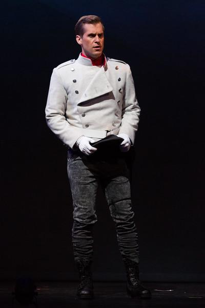 Tenor Adrian Kramer is Don Jose in San Diego Opera's The Tragedy of Carmen. March, 2017. Photo by Karli Cadel.
