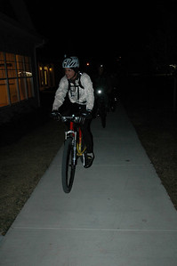 Bill Oterson leads the night's Munson Hills trail ride.