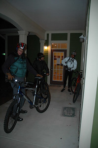 Yeah, the temperature's around freezing and dropping, but these guys want a night trail ride.
