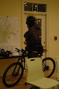 Night ride preparations begin.
