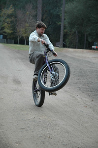 Jason shows off just a sampling of his mad bike skills on P-Snoop the Pugsley.