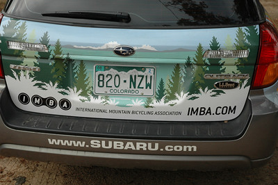 Let's do a walk around those rad vinyl graphics on the IMBA TCC Subaru.