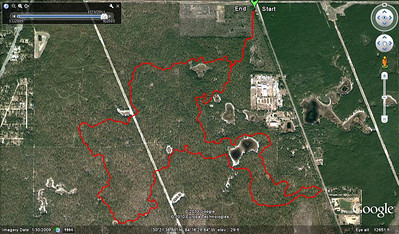 From this GPS track of the 23Jan10 group ride.