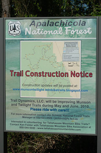 Closer look at the construction notice sign.