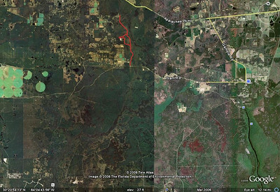 """There's the potential that the park may be expanded southward to Natural Bridge Battlefield Historic SP. Natural Bridge is located downstream, lower left. It's that little white square with a """"W"""" inside, along the bottom. Imagine that as a continuous park. Wow!"""