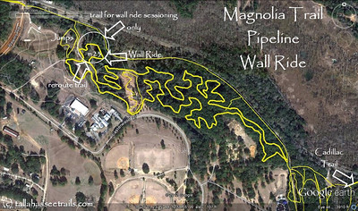 Magnolia Trail Pipeline Wall Ride, revised to show 1 March 2012 trail revisions.