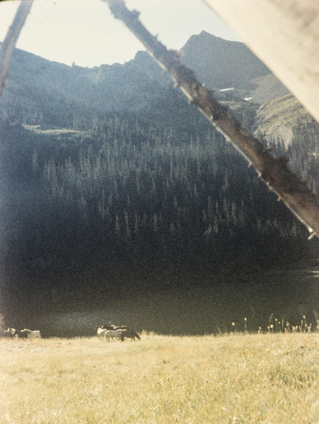 G13 Oly Tent View Grand Valley lake 1958