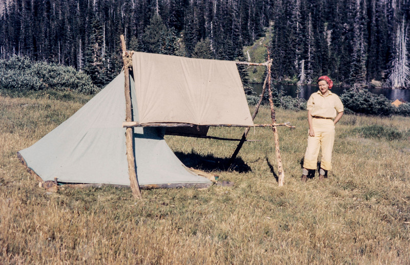 G12  Oly Our tent Grand Valley lake 1958