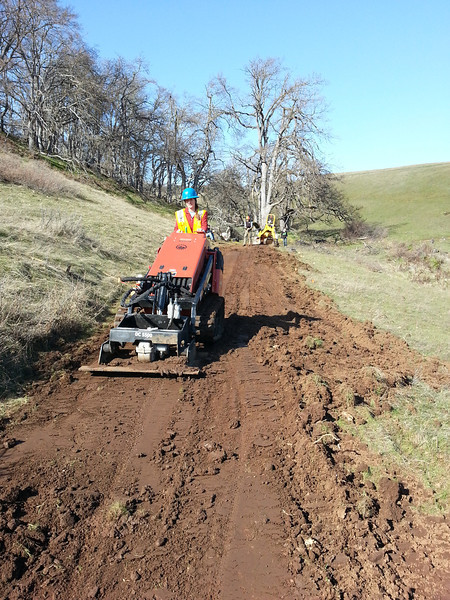 using compactor on old jeep road