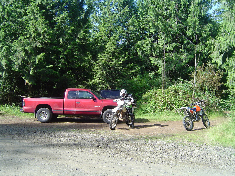 Me and Jon starting off the morning at the Rock Candy trail head. We were riding by 9:00am.