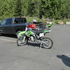 Starting off the morning at Rock Candy. Tom's KX 250 and my KLX 400.