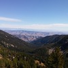 Finally up on Horsehead Pass. Again looking to the SE. Lower Eagle lake and the Methow Valley in the distance.