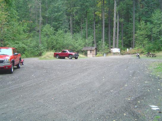 Starting off the morning at the Blue Lake ORV Trailhead.