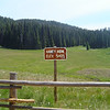 Haney Meadows is directly across from the horse camp.