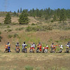 We staged under the Power Lines off of Cooke Canyon Rd.  Here, ten of the twelve riders are lined up and ready to ride.