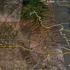 See!! The yellow track shows the area we rode and it's location near Ellensburg.
