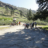 Day 2 with 8 riders. Stopping here at Antilon Lake. About 5 miles up Grade Creek Road.