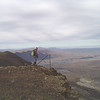 Jay on the very edge of Sentinel Ridge looking back toward Wanapum Dam and the Columbia River.