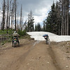 We didn't make it that far up the State Line trail before having to turn around. 6 ft drifts at 5800 ft.