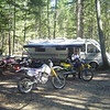 Here we are getting ready to head out for some single track fun in the west half of the forest.