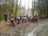 Resting above the Tahuya River on the first leg of the Howell Lake Group. Nine riders in todays group.