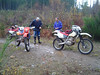 There were 3 of us. Jon (xr 250), Bill (xr 350), and me (borrowed xr200).