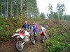 Taking a quick break in the clearcut. Everytime we stopped for a break it would start raining.