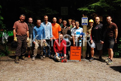 Some of 35 volunteer Knee Knackerer trail maintenance crew.
