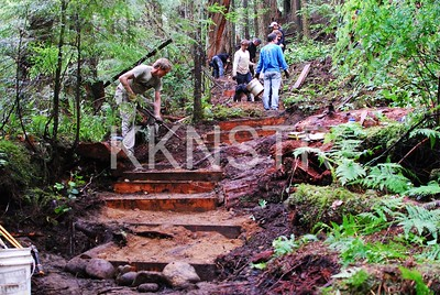 Stairs emerges in re-routed Baden Powell trail