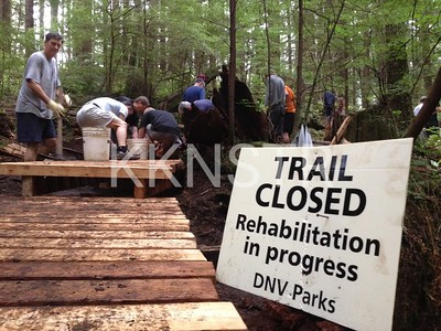 Trail Maintenance east of Hyannis Drive.