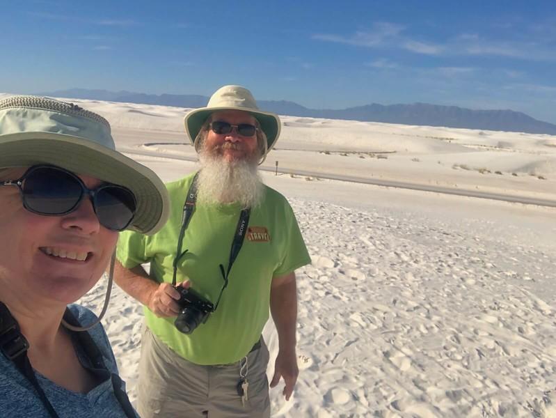 Sandra and John at White Sands National Park