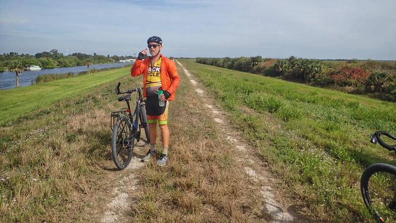 Cyclists on the Florida Trail Okeechobee