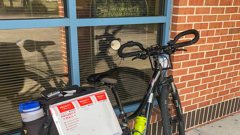Priority Mail by bike