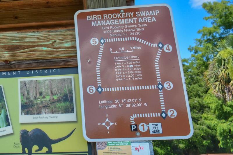 CREW Bird Rookery Mileage Chart