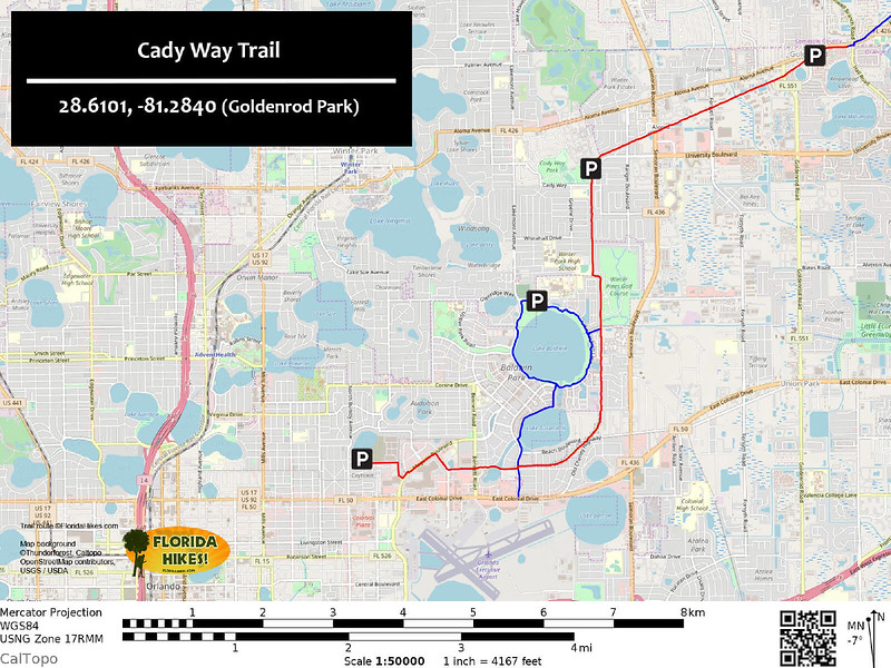 Cady Way Trail Map