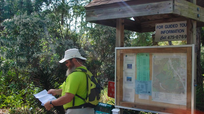 Kiosk with hiker map