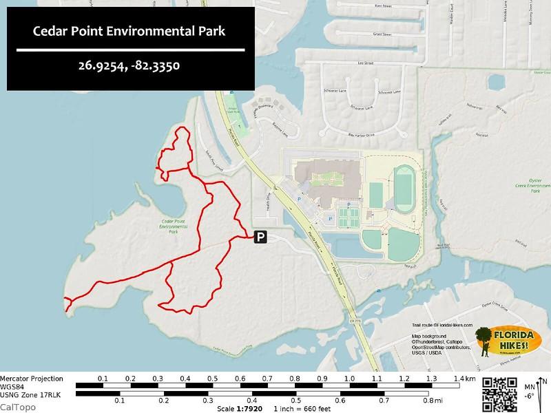 Cedar Point Park Trail Map