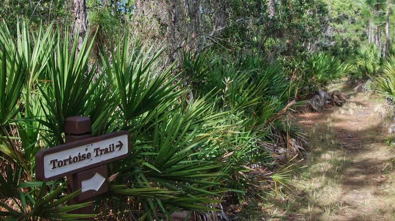 Tortoise Trail sign