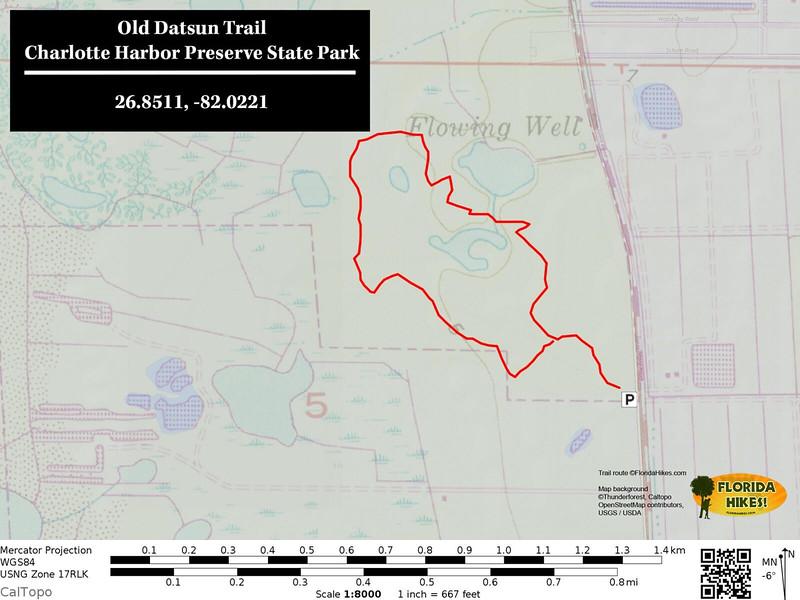 Old Datsun Trail Map