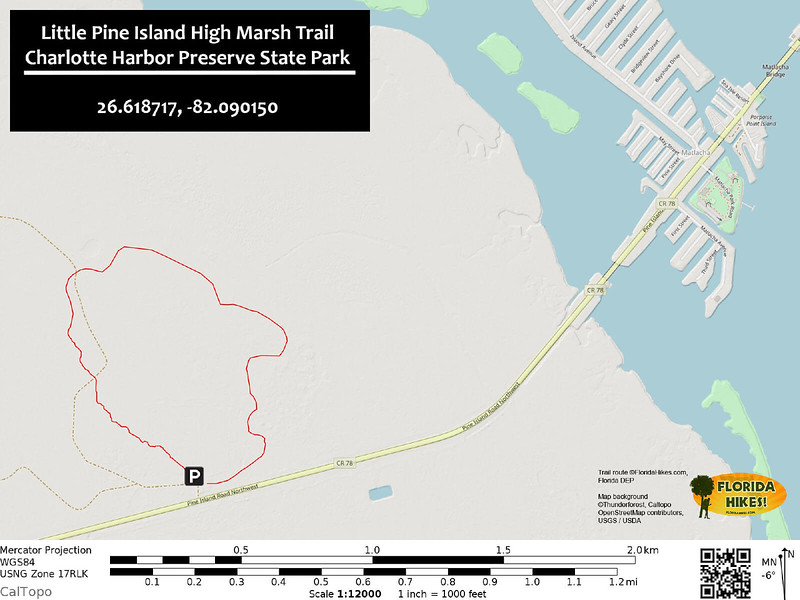 Little Pine Island High Marsh Trail Map