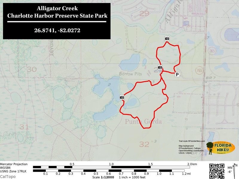 Alligator Creek Preserve Trail Map