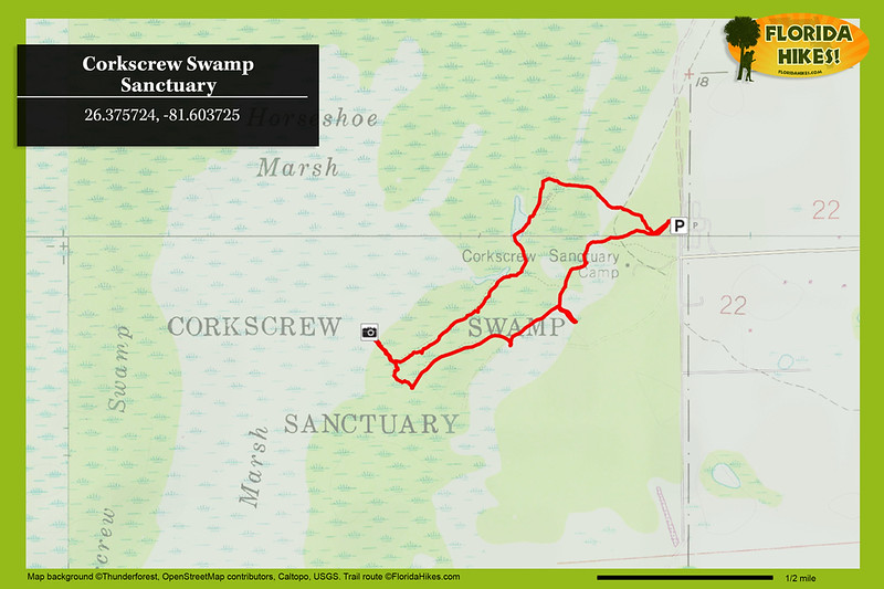 Corkscrew Swamp Sanctuary Trail Map