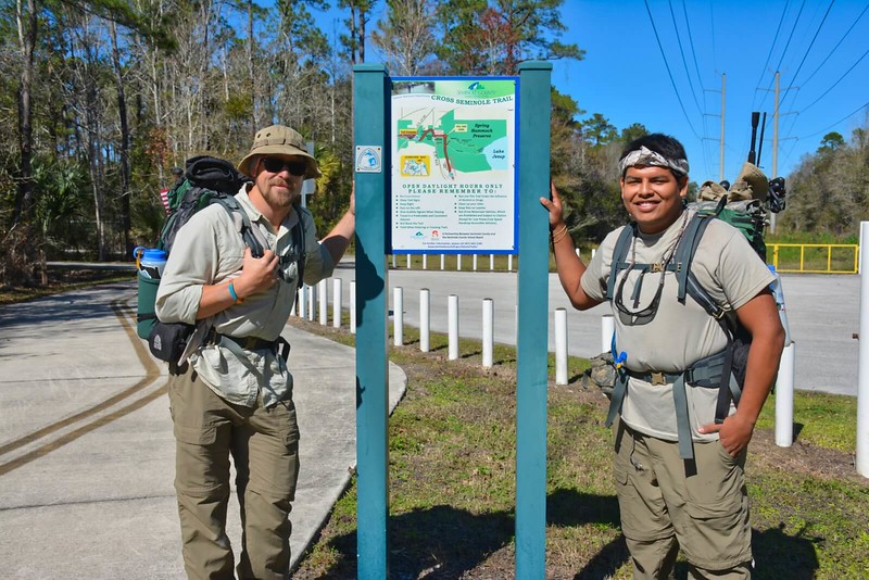 Florida trail thru-hikers