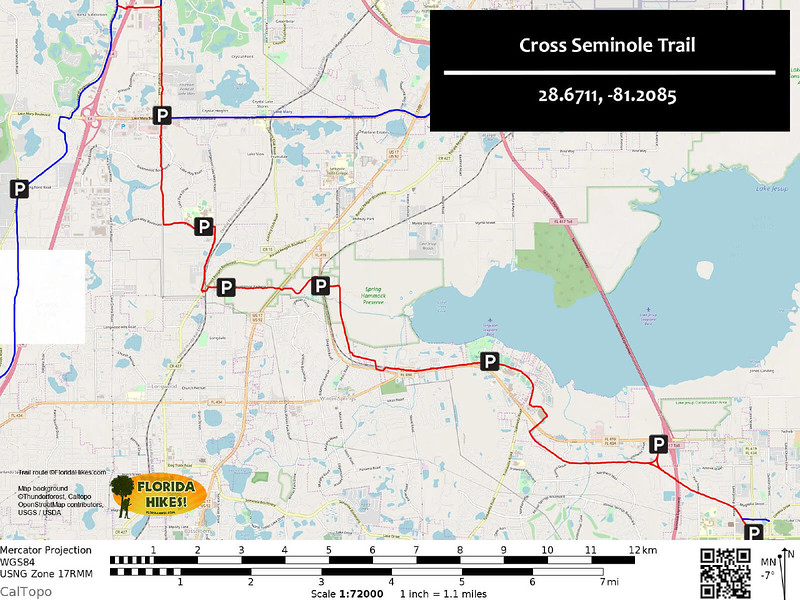 Cross Seminole Trail Map