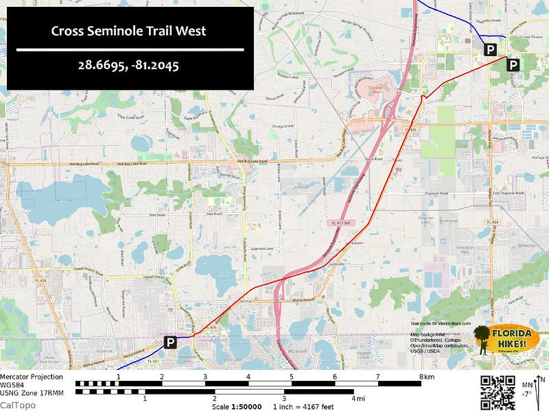 Cross Seminole Trail Map West