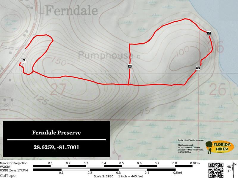 Ferndale Preserve Hike Map