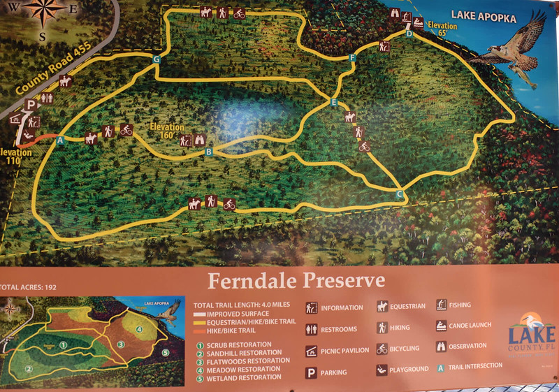 Ferndale Preserve Trail Map