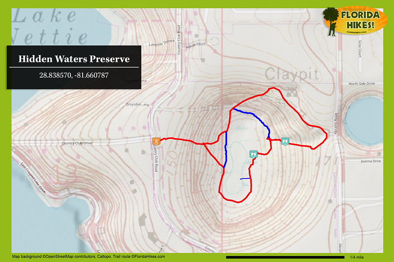 Hidden Waters Preserve trail map