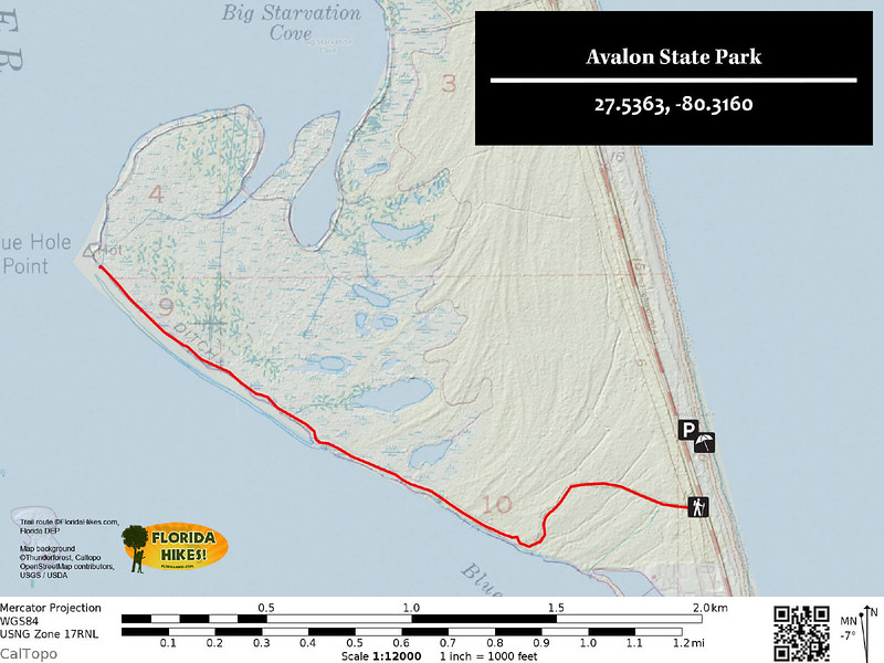 Avalon State Park Trail Map